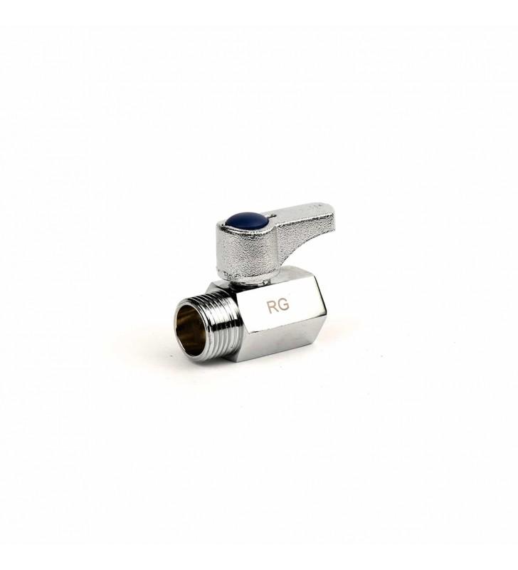 Διακοπτάκι Mini Σφαιρικό 1/2'' Χρωμέ Vegara RG
