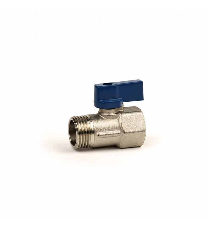 Διακοπτάκι Mini Σφαιρικό 1/2'' Μπλε