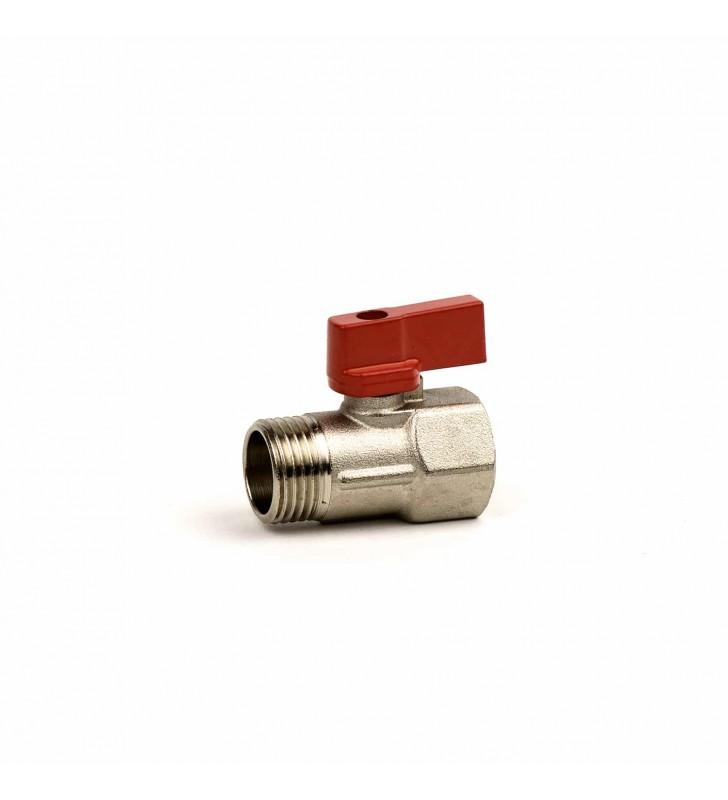 Διακοπτάκι Mini Σφαιρικό 1/2'' Κόκκινο