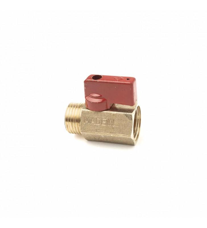 Διακοπτάκι Mini Σφαιρικό 1/2'' Ορειχάλκινο Κόκκινο BUGATTI