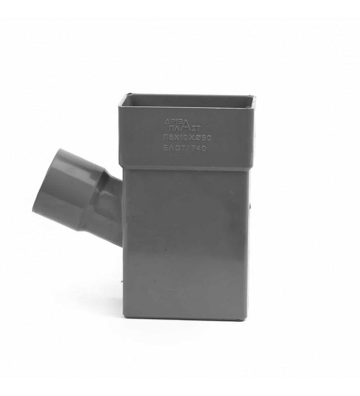 Ημιταφ Κλειστής Υδρορροής σε Φ50 Πλάγιο 6x10 εκ.