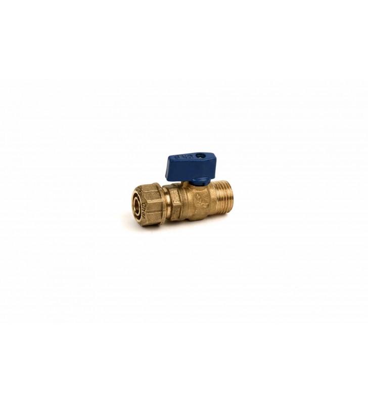 Διακοπτάκι Mini με Ρακόρ (Φ15/ Φ16/ Φ18x2,5) Μπλε CHERBROSS