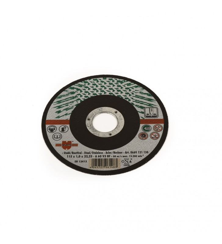 Δίσκος Κοπής Φ115 Inox Wurth