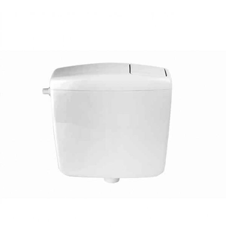 Καζανάκι Πλαστικό Τετράγωνο με Φελιζόλ Ηχομόνωσης Λευκό COMO