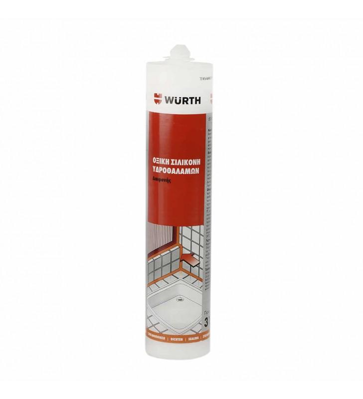 Σιλικόνη Αντιμουχλική Υδροθαλάμων Υψηλής Ποιότητας 310 ml (Διάφανη/ Λευκή) Wurth