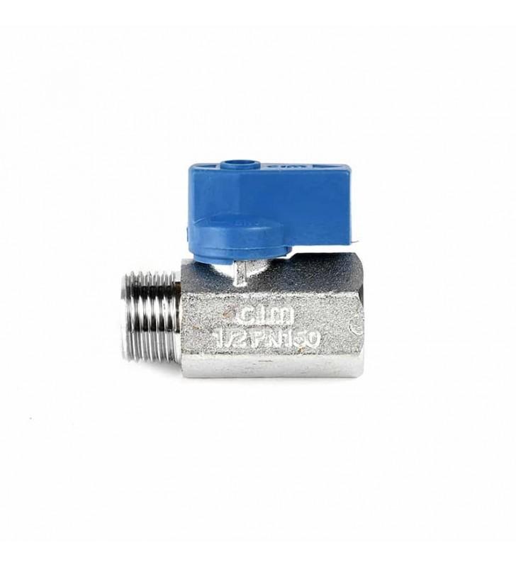 Διακοπτάκι Mini Σφαιρικό 1/2'' Μπλε Β.Τ. CIM